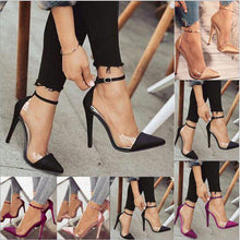 Load image into Gallery viewer, Sexy Buckle Super High Heeled Ankle Strap Pumps