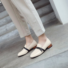 Load image into Gallery viewer, Woman Shallow Square Head Low Heeled Shoes