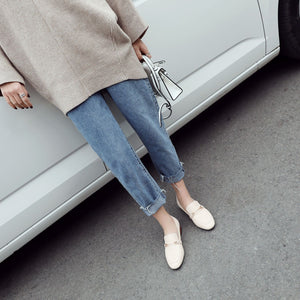 Woman Shallow Mouth Casual Low Heeled Shoes