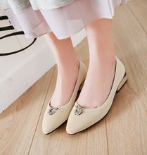 Load image into Gallery viewer, Woman Shallow Mouth Pointed Low Heeled Shoes