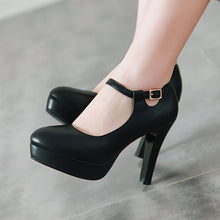 Load image into Gallery viewer, Women's Chunkey Heel Pumps Super High Heel Buckle Shoes