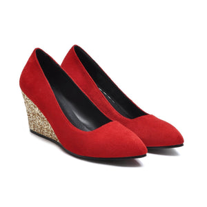 Casual Slope-heeled High-heeled Shallow-mouth Size 33-43 Wedges Shoes Women