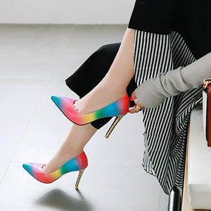 Pointed Toe Ultra-High Heels Thin Heels Shallow Mouth Women Pumps Stiletto Heel