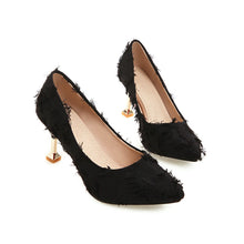 Load image into Gallery viewer, Pointed Toe High Heels Shallow Women Pumps Stiletto Kitten Heel