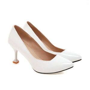 Pointed Toe Shallow-mouthedWomen Pumps Stiletto Kitten Heel Shoes