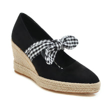 Load image into Gallery viewer, Casual Bowtie Platform Wedges Shoes Women 33-44