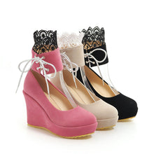 Load image into Gallery viewer, Casual Ultra High Heel Platform Shallow Toe Wedges Women Girls
