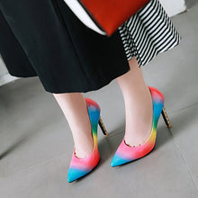 Load image into Gallery viewer, Pointed Toe Ultra-High Heels Thin Heels Shallow Mouth Women Pumps Stiletto Heel
