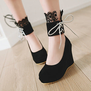 Casual Ultra High Heel Platform Shallow Toe Wedges Women Girls