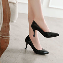 Load image into Gallery viewer, Pointed Toe Shallow-mouthedWomen Pumps Stiletto Kitten Heel Shoes