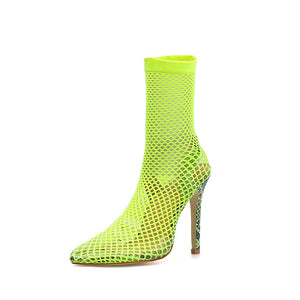 Sexy Mesh Stiletto High Heel Large Size Sandals