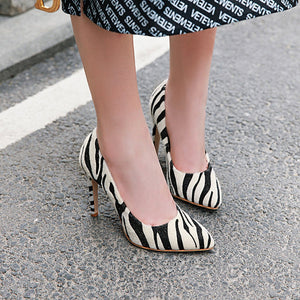 Pointed Toe Ultra-High Heels Pplus Size Women Pumps Stiletto Heel Shoes