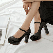 Load image into Gallery viewer, Women's Chunkey Heel Pumps Super High Heeled Shoes