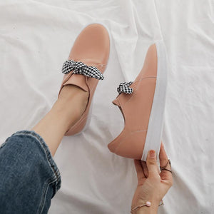 Girls Woman's Casual Round-head Flat Shoes