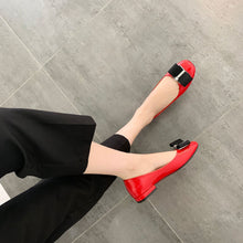 Load image into Gallery viewer, Casual Driving Woman's Shoes Square Bow Low Heels Shoes