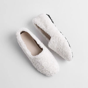 Girls Wool Round Head Flat Shoes