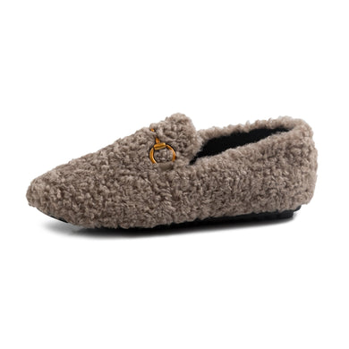 Girls Wool Flat Shoes