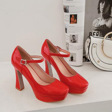 Load image into Gallery viewer, Women's Chunkey Heel Pumps  Ultra-high Heel Buckle Belt Shoes