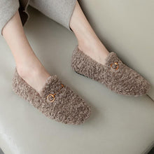 Load image into Gallery viewer, Girls Wool Flat Shoes