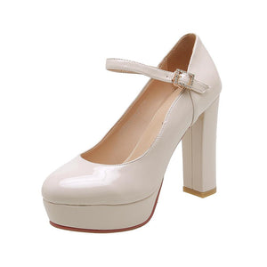 Super High Heeled Platform Pumps
