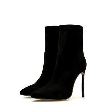 Pointed Toe High-heeled Suede Stiletto Short Boots Fall/Winter