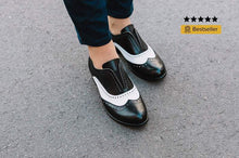 Load image into Gallery viewer, Woman Low Heeled Oxford Shoes Princess Shoes