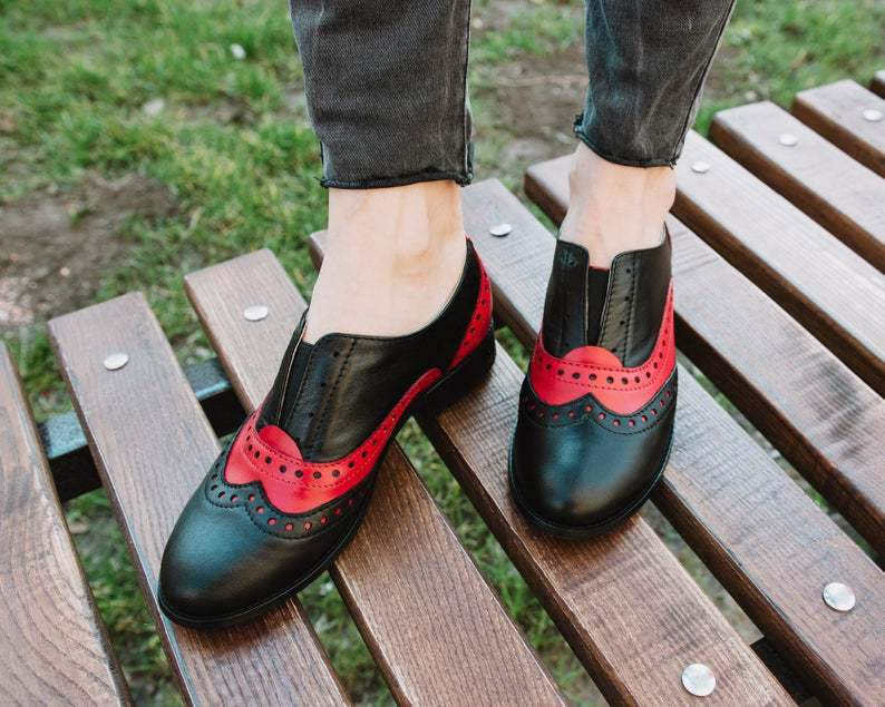 Woman Low Heeled Oxford Shoes Princess Shoes