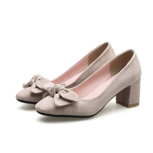 Women's Pointed Toe Pumps High Heeled with Bow