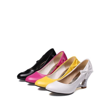 Casual Women's Bow Candy-colored Hollowed-out Platform Wedges Shoes