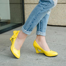 Load image into Gallery viewer, Casual Women's Bow Candy-colored Hollowed-out Platform Wedges Shoes
