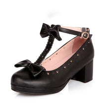 Load image into Gallery viewer, Fresh Lolita Sweet Bow Students Women Chunkey Pumps