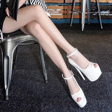 Load image into Gallery viewer, Women Shoes 16cm Sexy Nightclub Super High Heel Platform Fish Mouth Sandals