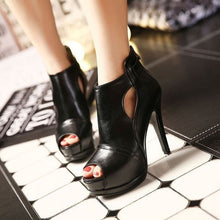 Load image into Gallery viewer, Women Shoes Fish Mouth Lady Hollow High Heel Platform Sandals