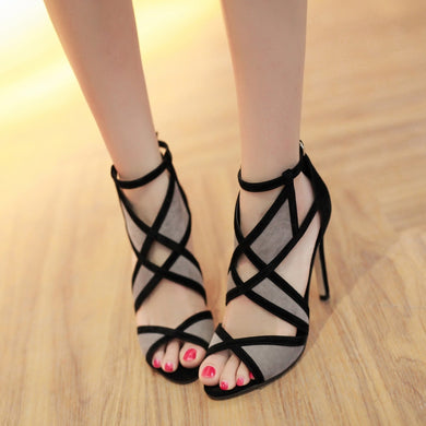 Sexy Women Shoes Roman Hollow-out High-heeled Sandals