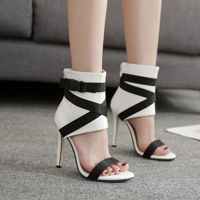 Sexy Women Shoes Summer Sandals Color Matching Large Size