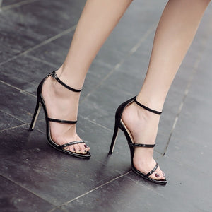 Women Shoes High Heels Sandals with Ankle Strap Buckle