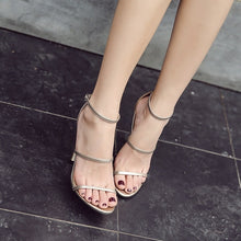Load image into Gallery viewer, Women Shoes High Heels Sandals with Ankle Strap Buckle