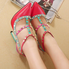 Load image into Gallery viewer, Sexy Women Shoes Rivet High Heels Sandals with Pointed Toe
