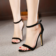 Load image into Gallery viewer, sexy women shoes high heel sandals with open toes