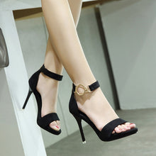 Load image into Gallery viewer, Metal Buckle Women Shoes High Heel Sandals
