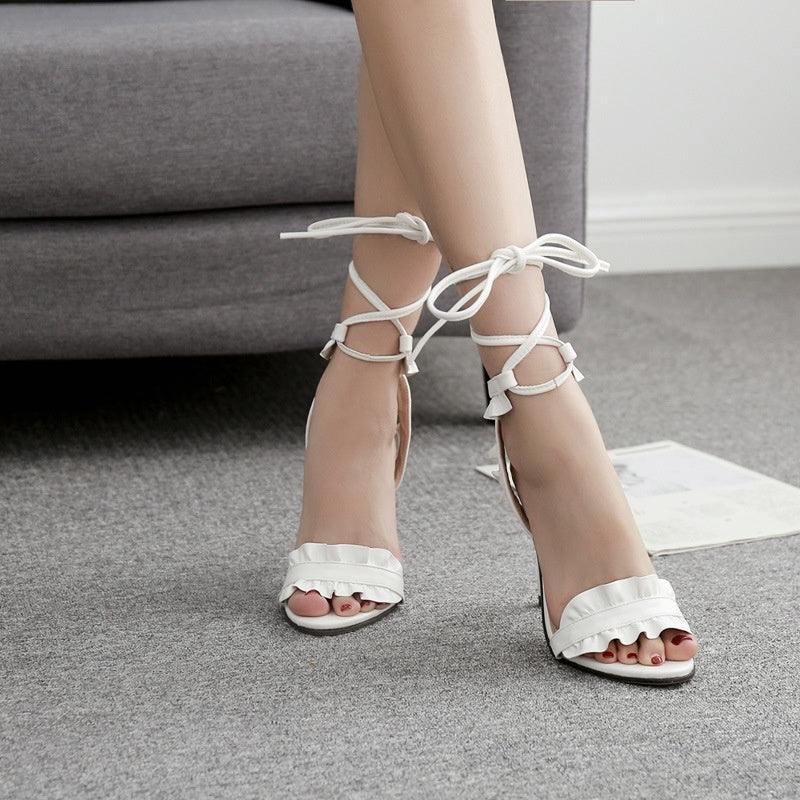 Sexy Women Shoes Ankle Strap High Heels for Summer