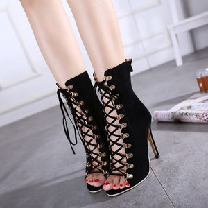 Sexy Women Shoes Cross Straps Hollow Out Sandals High Heel