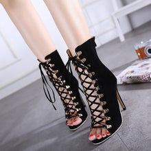 Load image into Gallery viewer, Sexy Women Shoes Cross Straps Hollow Out Sandals High Heel