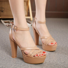 Load image into Gallery viewer, Sexy Women Shoes Summer Roman Chunky Heels Sandals