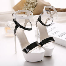 Load image into Gallery viewer, Large Size Women Shoes Sexy Super High Heel Platform Sandals 16cm with Color Matching
