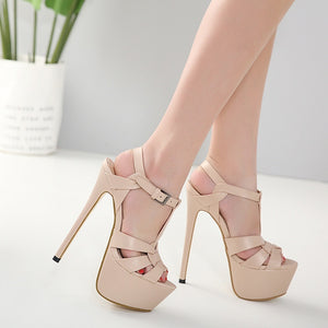Sexy Women Shoes Super High Heel Platform Sandals