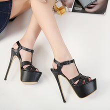 Load image into Gallery viewer, Sexy Women Shoes Super High Heel Platform Sandals