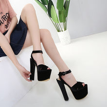 Load image into Gallery viewer, Korean Women Shoes Chunky Heels Sandals