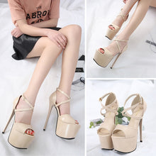 Load image into Gallery viewer, Sexy Ladies Shoes Super High Heels Nightclub Fish Mouth Sandals
