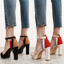 Load image into Gallery viewer, Korean Woman Shoes Buckle Platform Thick High-heeled Sandals